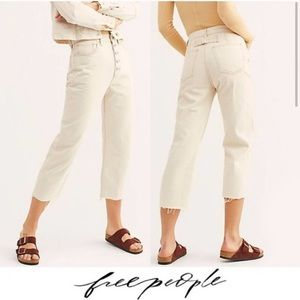 Free People Ivory Jeans